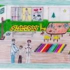 Astellas Gyermekrajz Pályázat díjazottjai közé került egy rendelőnkről készült kép